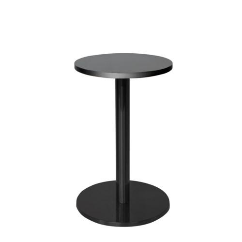 Marais Round End Table-Black Base & Edge