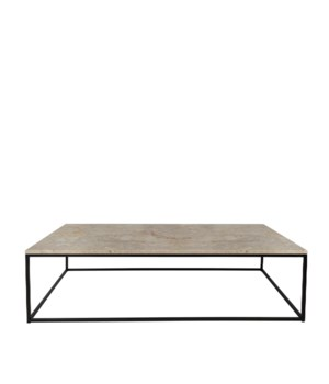 Geneva Coffee Table & Travertine