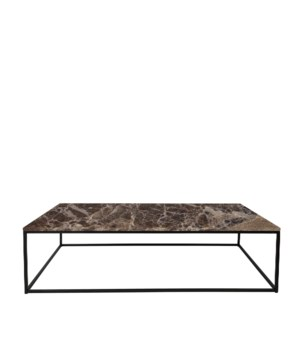 Geneva Coffee Table & Emperador Marble