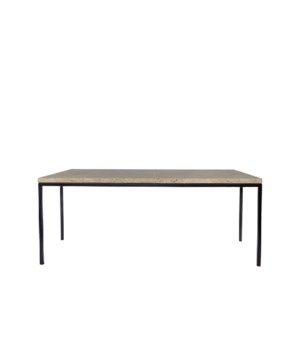 Moma Coffee Table, Travertine Top