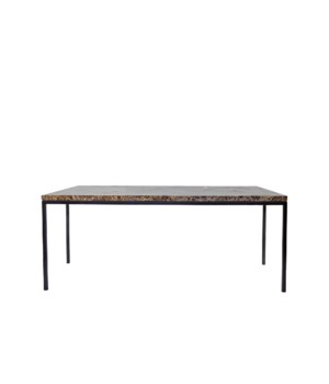 Moma Coffee Table, Emperador Brown Marble Top