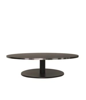 Marais Round Coffee Table-Black Base&Edge