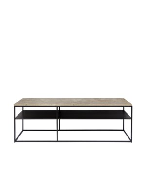 Geneva Console Metal Frame & Travertine