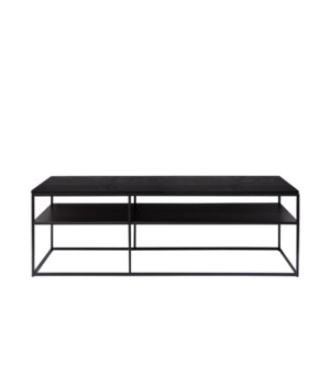 Geneva Console Metal Frame & Oak Wooden Top
