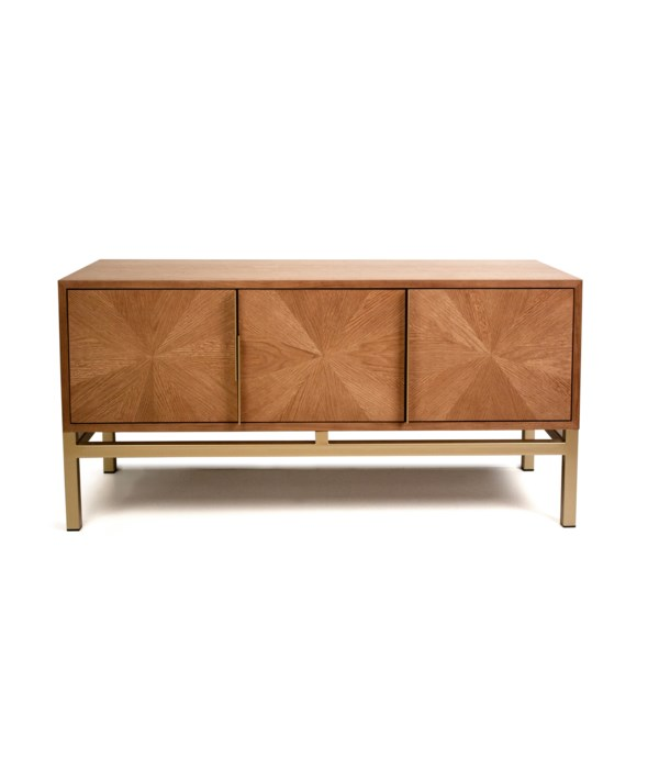 Triangle Buffet Cabinet - 3 Doors With Gold Frame