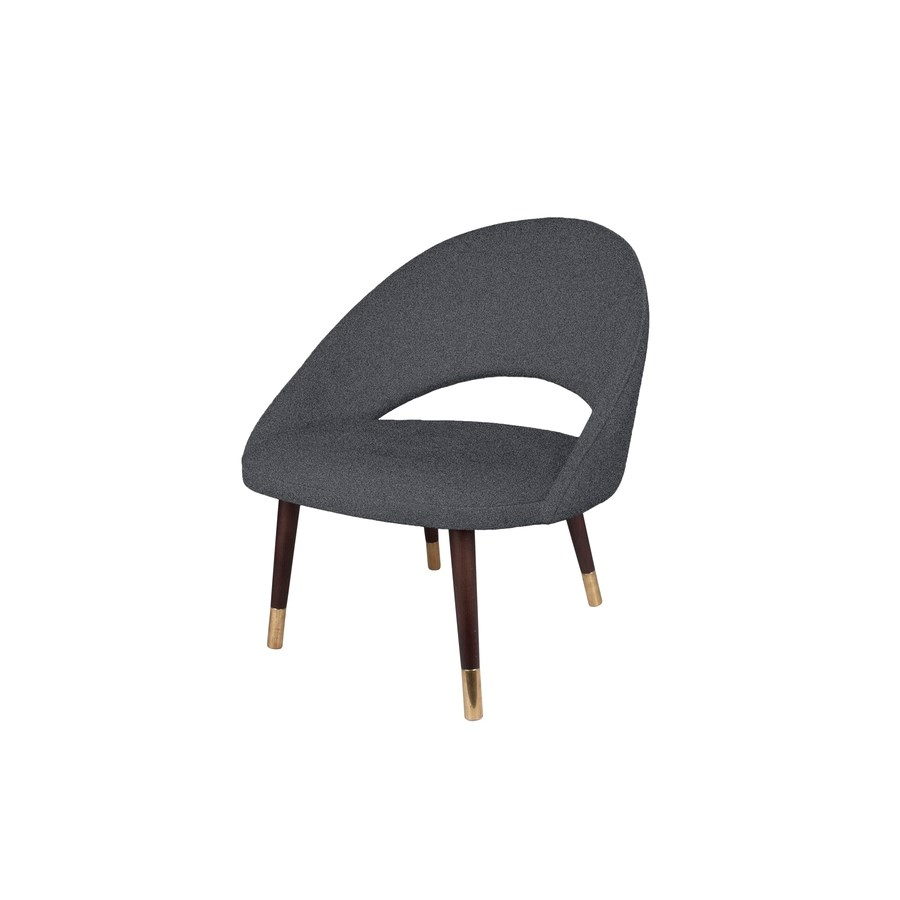 Bend Loungechair With Brown Legs&Baqueira