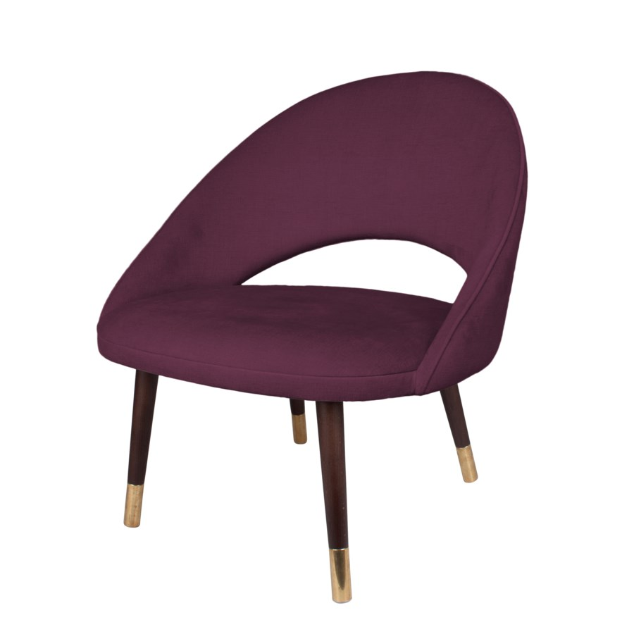 Bend Loungechair With Brown Legs&Paris