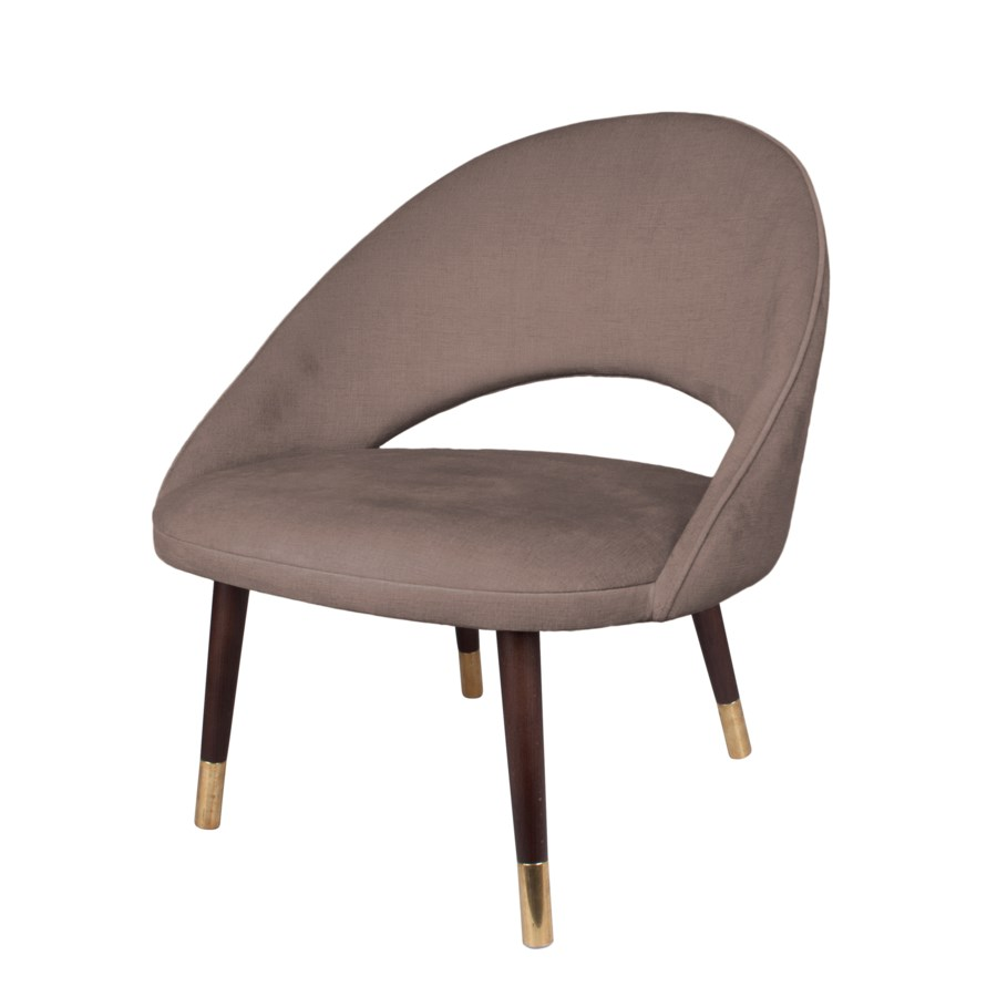 Bend Loungechair With Brown Legs&Paris