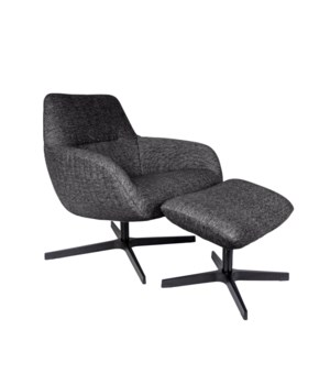 Finley Lounge Chair & Footrest With Brema Fabric