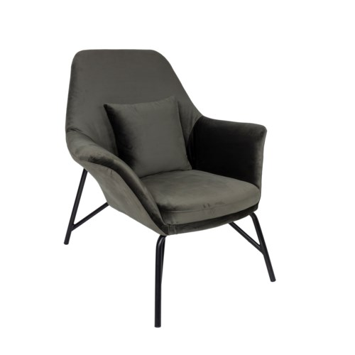 Loungechair With Footrest In Zf Fabric