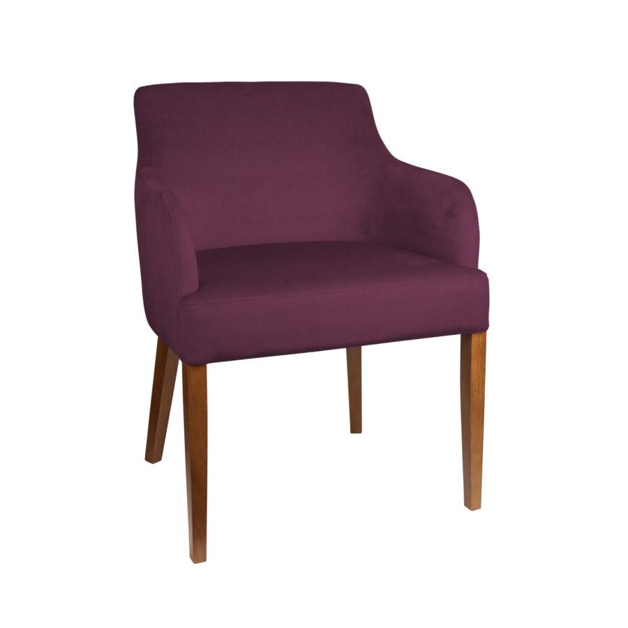 Curved Armchair With Walnut Legs & Paris Fabric