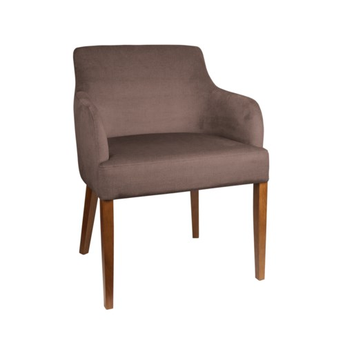 Curved Armchair With Walnut Legs & Paris Fabric