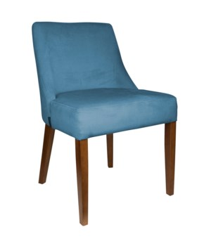 Curved Sidechair With Walnut Legs & Napoli Fabric