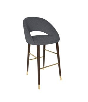 Bend Bar Sidechair With Brown Legs - Baqueira