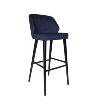 Verge Bar Sidechair With Brown Legs&Paris Fabric