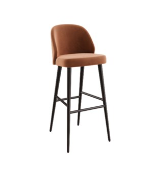 Verge Bar Sidechair With Brown Legs&Paris Fabric