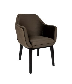 Volvere Armchair&Brown Legs And Paris Fabric
