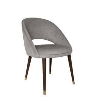 Bend Diningchair With Brown Legs&Aspen Fabric