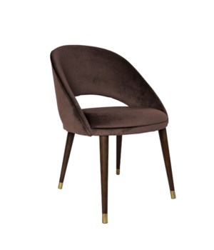 Bend Diningchair With Brown Legs&Paris Fabric