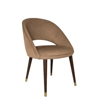 Bend Diningchair With Brown Legs&Warlock Fabric