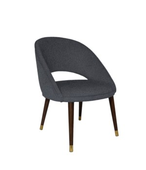 Bend Low Dining Chair With Brown Legs - Baqueira