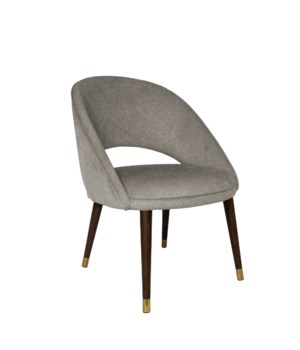 Bend Low Diningchair With Brown Legs&Baqueira