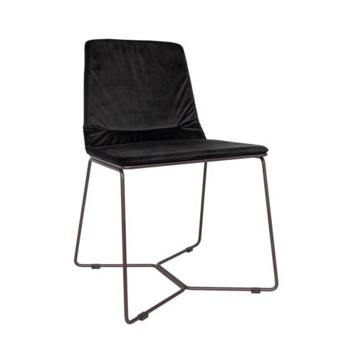 Dining Chair Bronze Iron frame, miraglio fabric