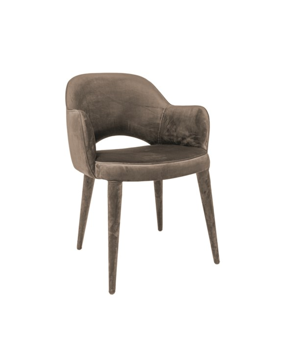 Bow Armchair With Metal Frame - Cici BEIGE