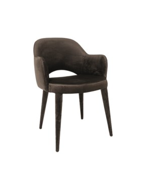 Bow Armchair With Metal Frame With Cici Fabric