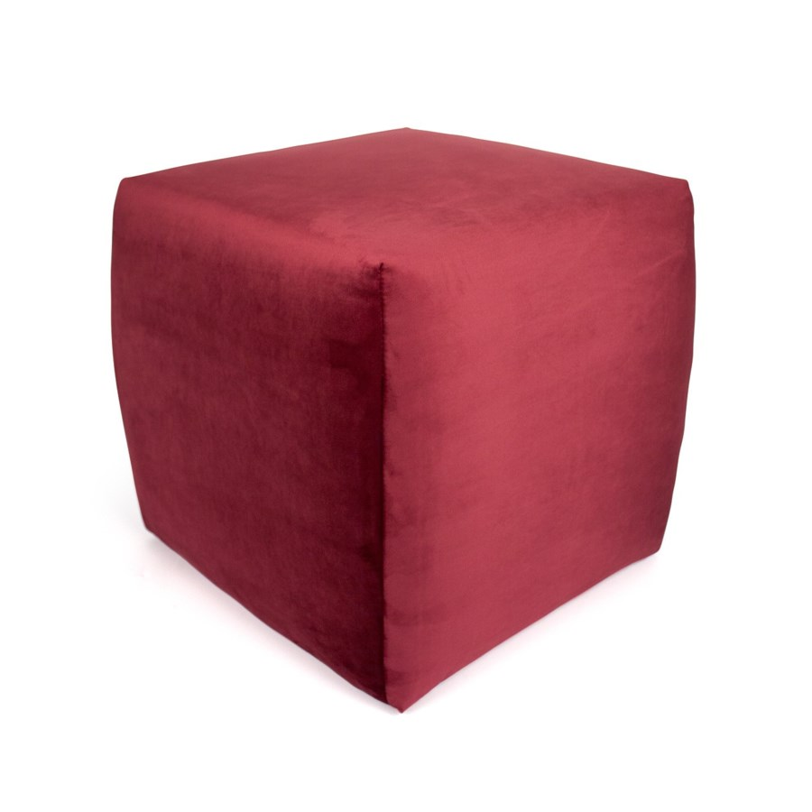Square Stool With Warlock Fabric