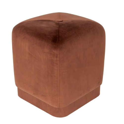 Bobo Square Stool With Velvio Fabric