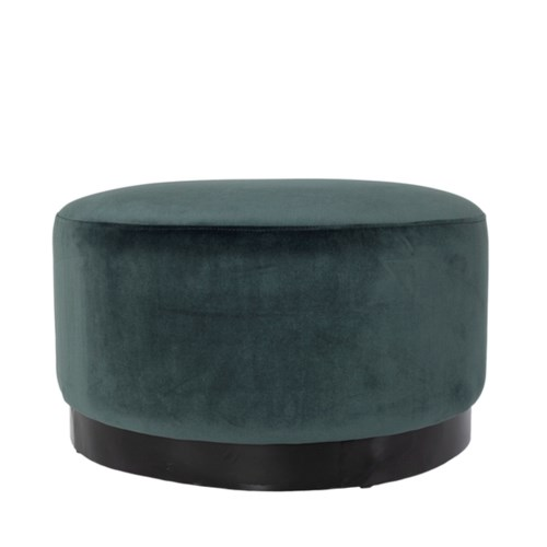 Bobo Round Stool Metal Base With Velvio Fabric
