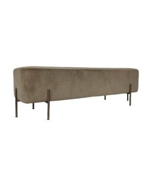 Elephant Square Bedbench With Velvio Fabric