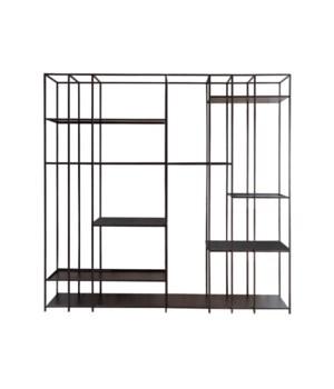 Geneva Rack Metal Frame & Oak Wooden Top