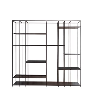 Geneva Rack Metal Frame & Wooden Top