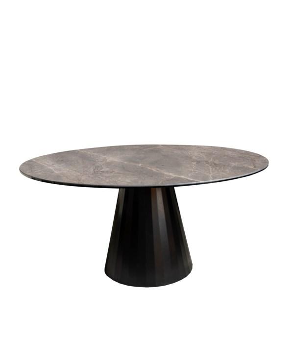 Ronda Dining Table Round, Thundernight Brillant Ceramics