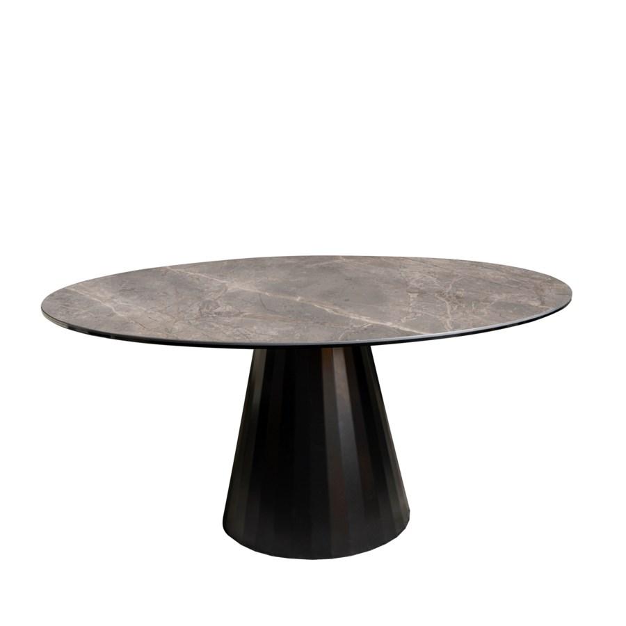 Dining Table Round, Thundernight Brillant Ceramics