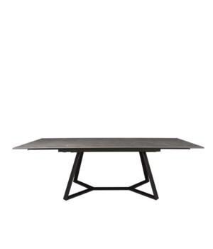 Gerona Table Extendable Etoile Gris Ceramics black