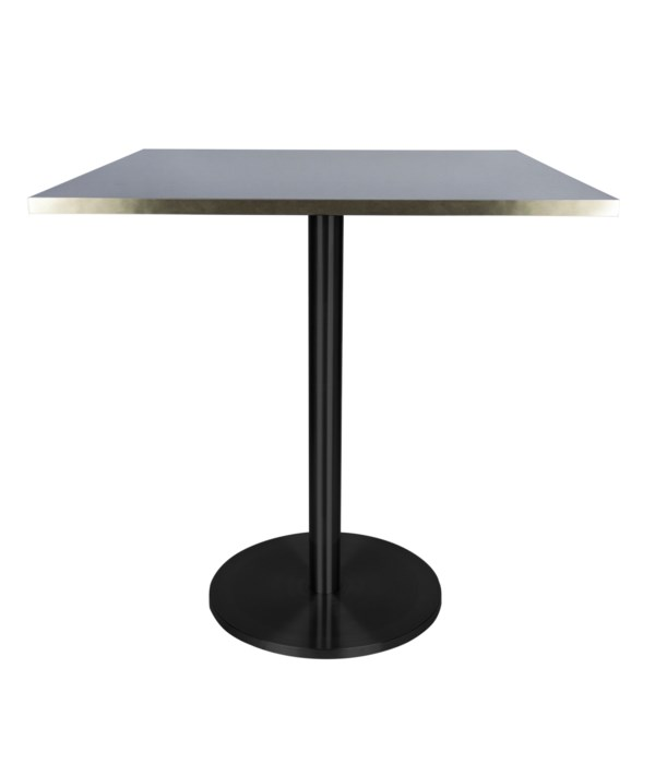 Marais Square Bistro Table -Black Base Dining Height
