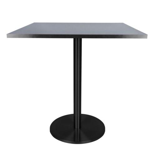Marais Square Bistro Table-Black Base&Edge