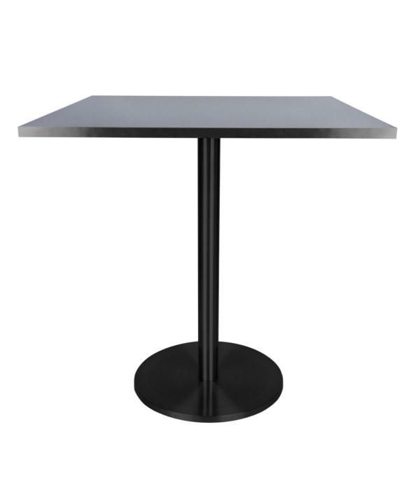 Marais Square Bistro Table-Black Base&Edge Dining Height