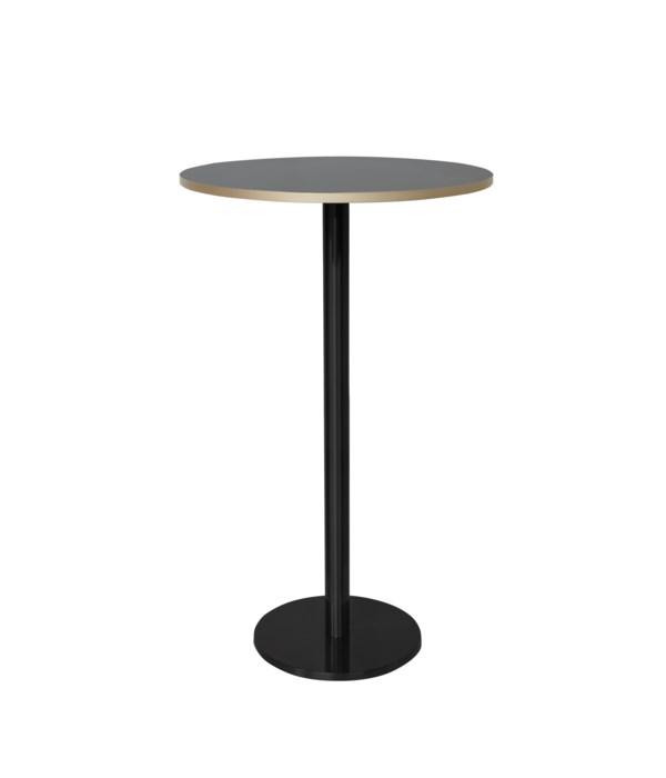 Marais Round Bar Height Table High-Black Base