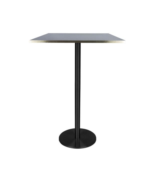 Marais Square Bar Height Table High-Black Base