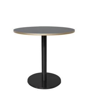 Marais Round Low Dining Table-Black Base