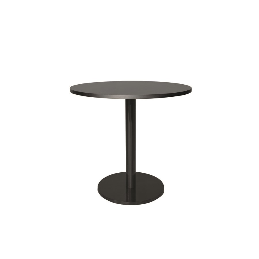 Marais Round Low Dining Table-Black Base&Edge