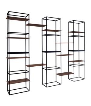 Java Modular S/6, 12 Wooden Shelfs
