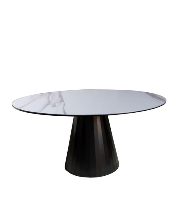 Ronda Dining Table Dia120Cm,Calacatta Oro Ceramics