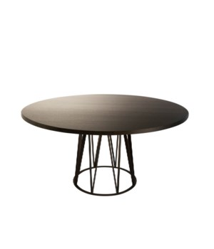 Boston Wired Table Round Veneered Oak - 120Cm