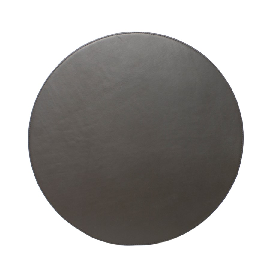 Placemat Leather Round