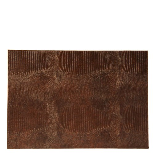 Placemat Lizard Print In Brown